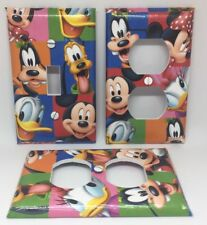 MICKEY MOUSE & FRIENDS SWITCH PLATE AND OUTLET COVERS - FREE SHIPPING!!