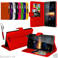 7 Colour Leather Stand Wallet Flip Phone Case Cover For Vodafone Smart 4 turbo