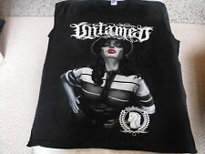 Black UNTAMED CHOLA IN DEATH MASK, low rider, gangster, chicano, urban t-shirt.