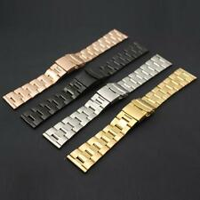New 22mm Mens Metal Watch Strap Bracelet Stainless Steel Band Deployment Clasp