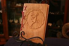 Small Customizable Wood & Leather Blank Journal, Book of Shadows - Fairy & Oak