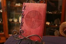 Small Customizable Wood & Leather Blank Journal, Book of Shadows - Labyrinth