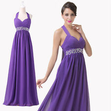 XMAS EVE Sexy Long Halter Cocktail Gown Prom Bridesmaid Evening Wedding Dresses