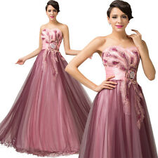 XMAS New Long Applique Tulle Pageant Formal Party Evening Dresses Wedding Gowns
