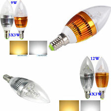 E14 9W 12W LED Candle Light Bulb Lamp Warm Cool White High power Chandelier