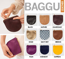 BAGGU GENUINE SOFTEST LEATHER POUCH WALLET COIN PURSE SMALL ZIP HAND MADE