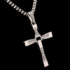 Best Gift Unisex's Men Silver Stainless Steel Cross Pendant Necklace Chain gold