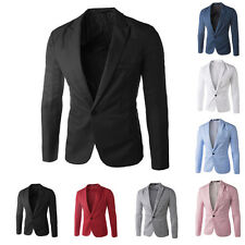Mens Blazer Jacket Adults Fashion Design Smart Slim-Fit Blazers Coat XS/S/M/L/XL