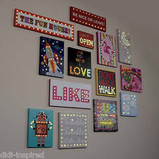 Illuminated ~ LED Light Up Canvas/Picture/Night Light ~ Assorted Designs