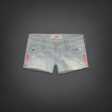 HOLLISTER WOMEN'S EMBROIDERED DESTROYED SHORTS SIZES 7 , 9