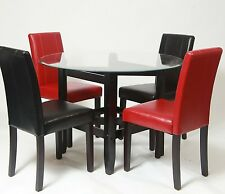 Dining Chairs Set Leather Parsons Upholstered Modern Padded Seats Kitchen Table
