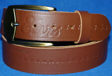 Elvis brown Belt Hand Made Real Leather Made in England Free changeable buckle