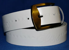 Elvis Belt Hand Made White Real Leather Belt Made in England Free Buckle