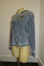 BEBE long sleeve crystal logo black jacket zip down hoodie grey 201393 sweater