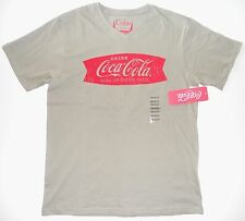Coca Cola Coke Men T Shirt Moss Green sz M XL Short Sleeve Sign of GoodTaste NWT