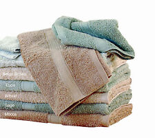 3 Pc's Organic Cotton Towel Gift Set 2 Bath Towels & 1 Hand Towel Brown/Green