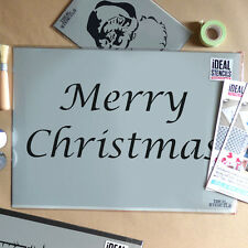 Merry Christmas stencil reusable art craft card making window decoration
