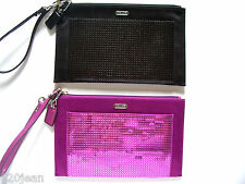 NWOT COACH 49887 OCCASION SEQUIN PARTY CLUTCH *MULBERRY* OR *BLACK*