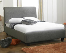 Aura Luxury Chenille Fabric Bed Frame All Sizes + 8 Different Colors!