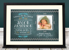 Personalised New Born Baby print gift / present / memory / Child / bedroom