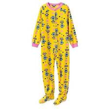 DESPICABLE ME Girls 4 6 8 Footed Pajamas Blanket SLEEPER Pjs Minion