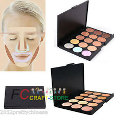 New Pro Salon/Party 15 Color Sheer Concealer Cream Camouflage Palette Makeup Set