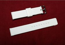 White Flat Silicone Rubber Diver Watch Band 16mm to 24mm