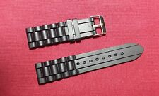 Black Silicone Rubber Diver Watch Band for Citizen,Seiko,Fossil 16mm to 24mm