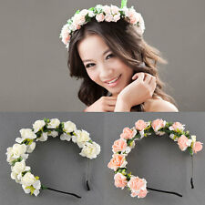 Flower Garland Floral Bridal Headband Hair band Wedding Party Festival