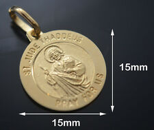 San Judas Tadeo / Charm + Chain  14k Real Gold  FREE ENGRAVE 26139