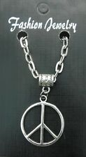 "20"" or 24"" Inch Chain Necklace & Peace CND Pendant Charm Anti War Symbol Sign"