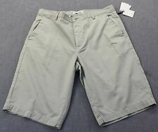 CALVIN KLEIN  Mens OUTERSPACE GRAY DRESSY REFINED CHINO SHORTS NWT Size 38