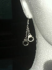 Pair HANDCUFF  Earings dangle hooks or studs ***UK made*** Free 1St Class Post**