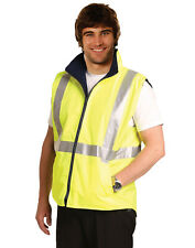 AIW SW19A; Reversible Safety Vest 100% Polyester PU Coated w 3M Tape