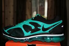 NEW Mens NIKE Air Max+ 2012 Black/Green Sneakers Shoes Sz 10.5 - (487982-004)