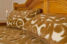 NEW -NEW QUILT CAMEL CASHMERE braid pattern -PILLOWS FREE WOOL4YOU FULL SIZE