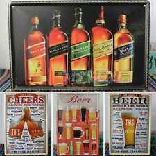 Retro Pub Bar Wall Poster Tavern Beer Tin Sign Shabby Chic Decor Metal Plaque