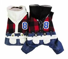 New Students Uniform Jacket Coat dog clothes For Boy Girl Small Little Dogs S~XL