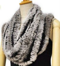 hot sell item Genuine Farm rex rabbit fur hand knitted scarf scarves wrap HOT