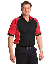 AIW BS15 Mens ARENA Cotton Twill Shirt; Short sleeved; S-5XL