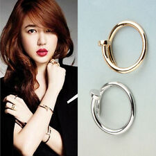 New Vogue Gold & silver Simple Nail Design Band Mid Finger Rings Set 1Pcs