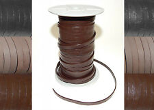 3mm 4mm 5mm 6mm FLAT 100% REAL LEATHER STRAP THONG LACE CRAFT HIDES ROPE STRING