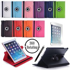 360 Rotating Cover Case for Apple iPad Air 2 with Screen Protector & Stylus