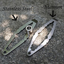 EDC pocket multi tool Ti titanium / Stainless Steel tactical keychain Wrench