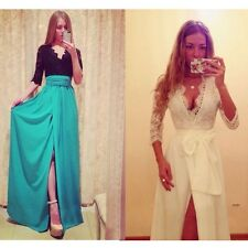 Fashion Evening Slim Cocktail Party Club Dresses Women Long Sexy Maxi Lace Dress