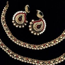ADIVA ethnic Combo :Pearl payal anklet & glowing paisley India earring pur60