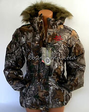 NWT~WOMENS REALTREE RED CAMO INSULATED WINTER BUBBLE JACKET COAT PARKA~S~M~L~XL