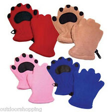 Bearhands Mittens - Cute, Adorable, Easy To Get On, Non-Slip PVC Pads