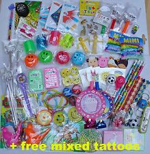 PARTY BAG TOYS FILLERS + free tattoos Goody Pinata birthdays PRIZES boy girl