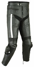 Mens RIDEX Racing CE Armours Biker Motorbike Motorcycle Leather Trouser Slider